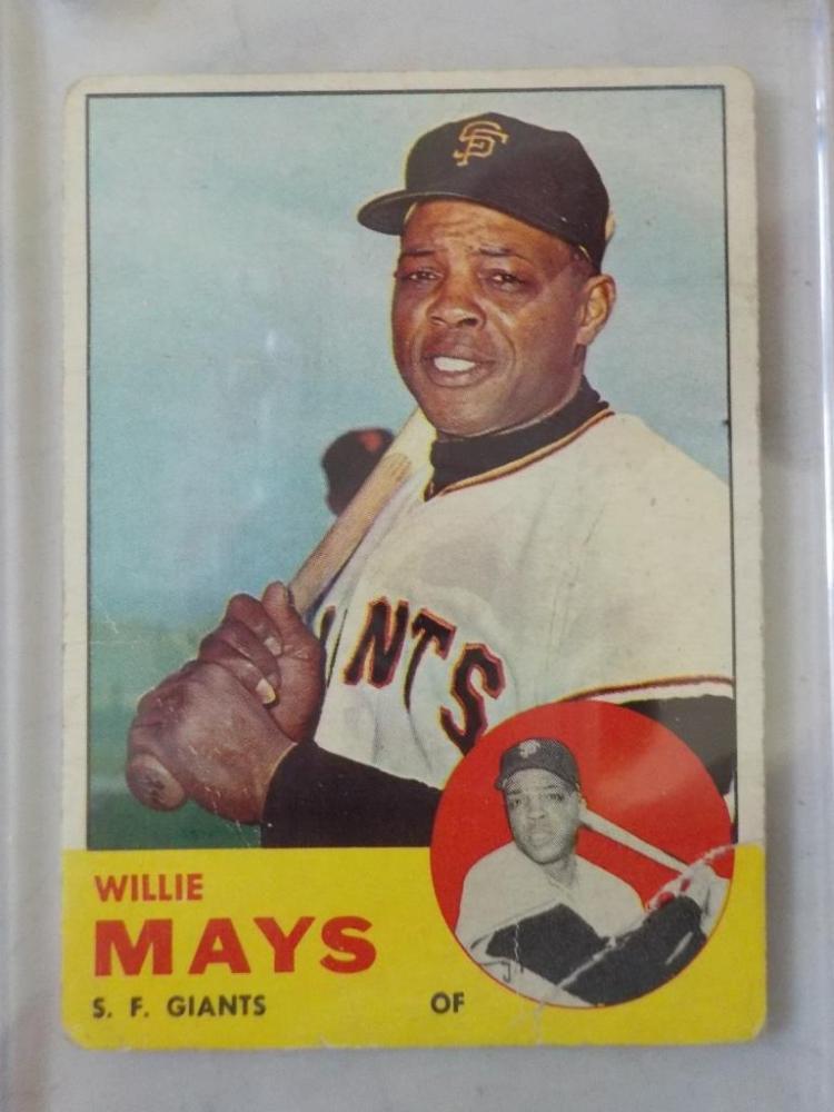 1963 TOPPS Willie Mays Baseball Card #300 VG