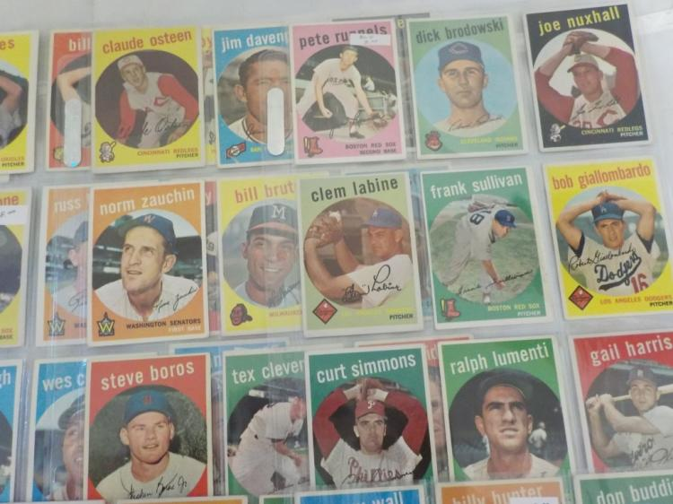 95 TOPPS Baseball 1959 Cards with a few minor star