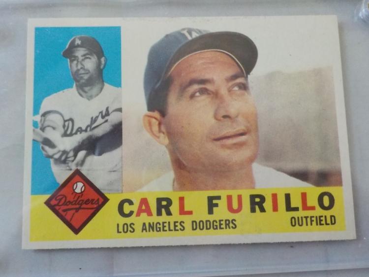1960 TOPPS Carl Furillo Baseball Card #408