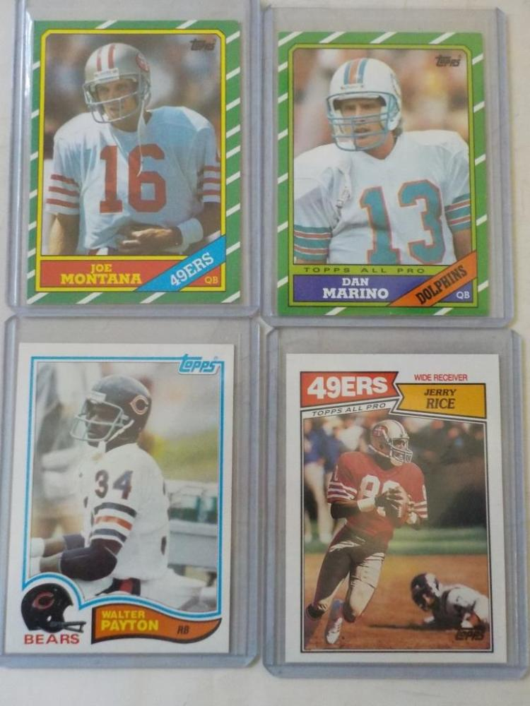 4 Early to Mid-1980's Football Super Stars NM-M