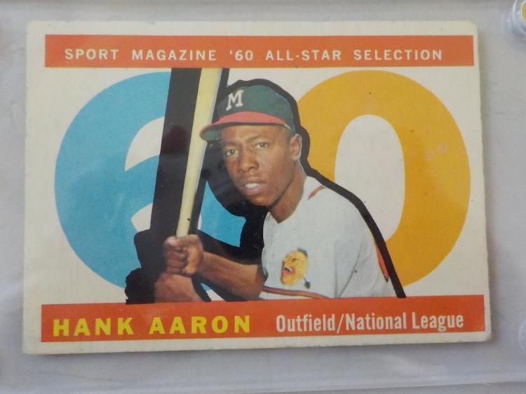 1960 TOPPS Hank Aaron All-Star Card #566