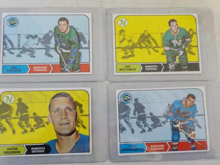 4 1968-69 TOPPS Hockey Cars NM #49, 83, 47, 86