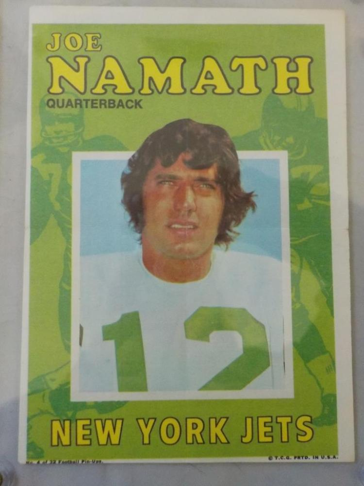 c.1970 TOPPS Joe Namath Football Pack Insert