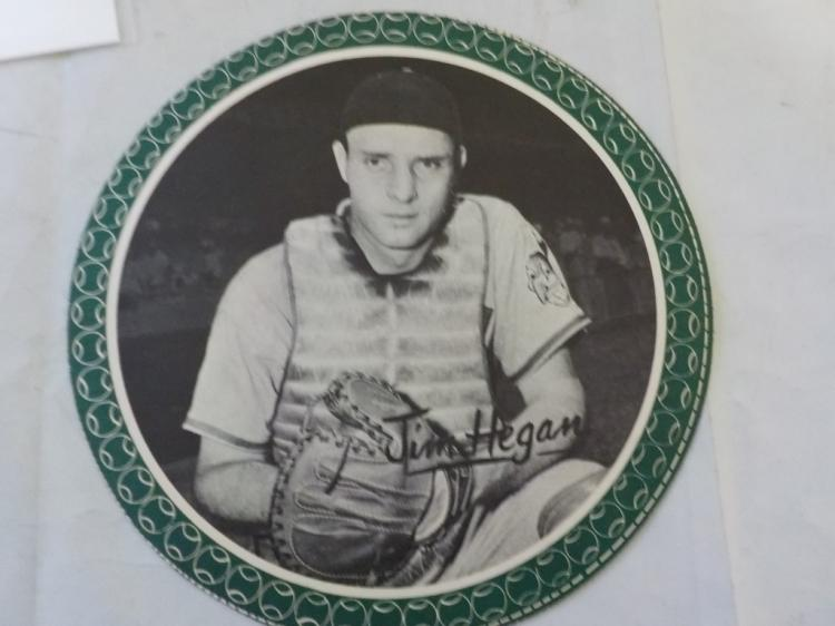 1950 Garden City All-Star Pin Up Jim Hegan SCARCE