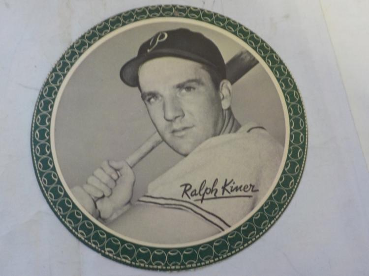 1950 Garden City All-Star Pin Up Ralph Kiner RARE