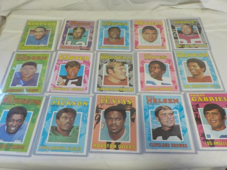 15 1970 TOPPS Football Game Inserts