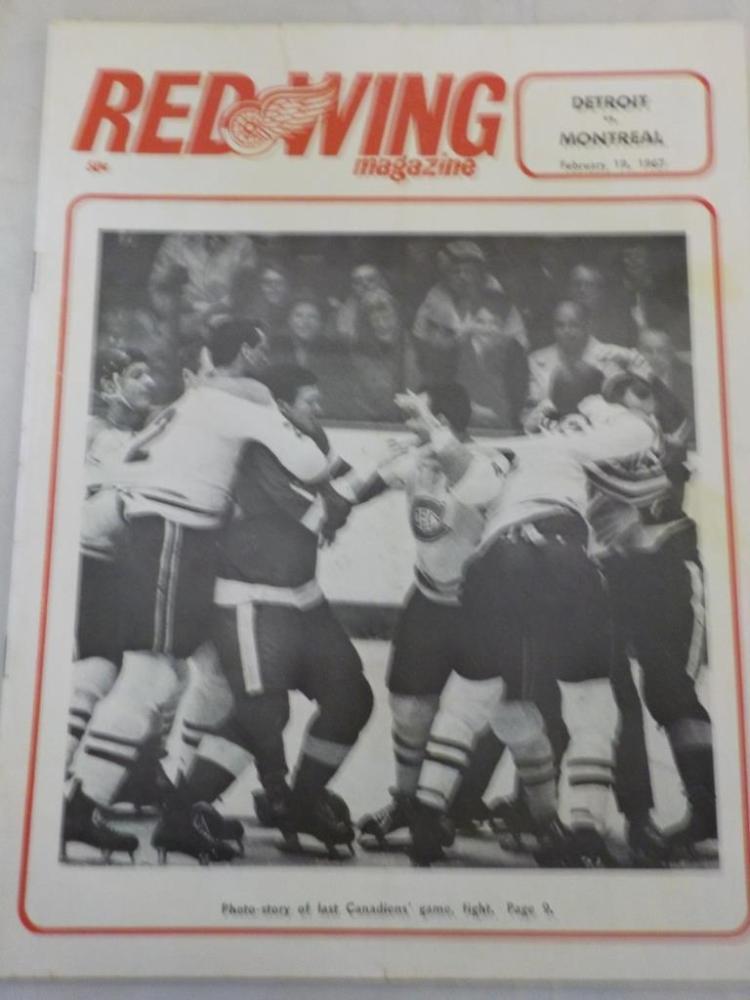Red Wings vs Canadiens 2/19/1967 Game Program