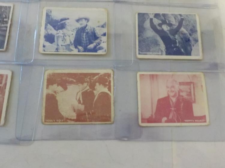 13 1950 Hopalong Cassidy Cards F-VG