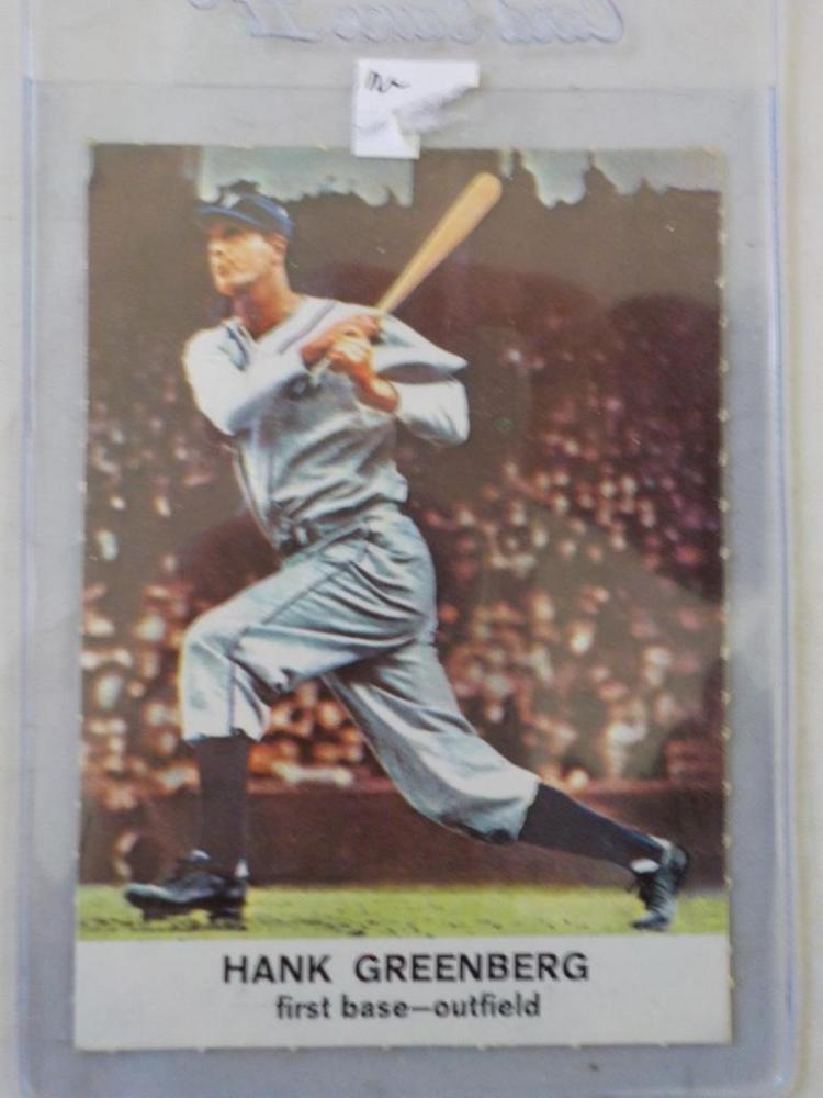 1960 Golden Press Hank Greenberg Baseball Card