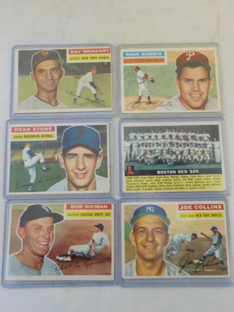 6 1956 TOPPS Baseball inc. Robin Roberts