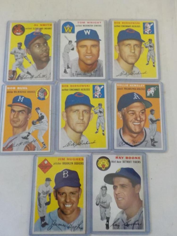 8 1954 TOPPS Baseball w Al Smith, Bob Buhl EX-NM