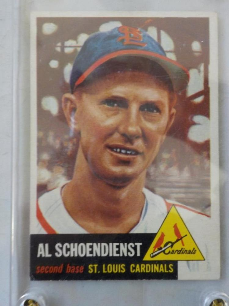 1953 TOPPS Red Schoendienst Baseball Card #78