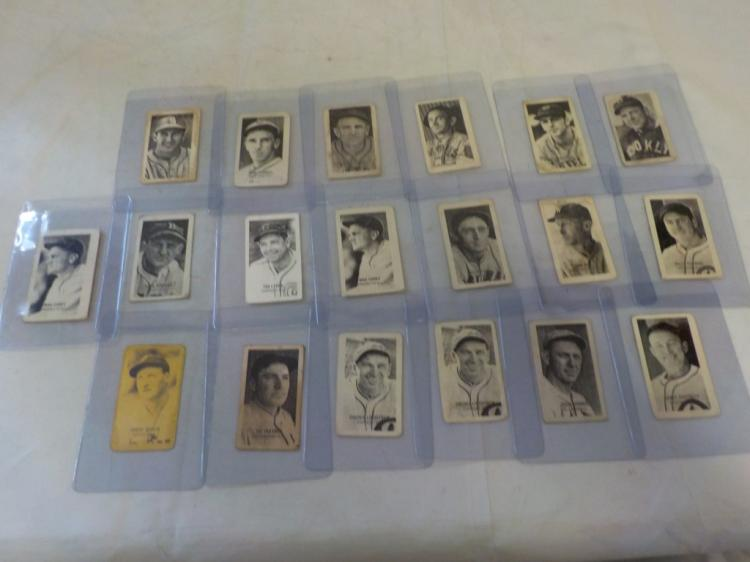 c.1930's 19 strip cards All Hall of Famers