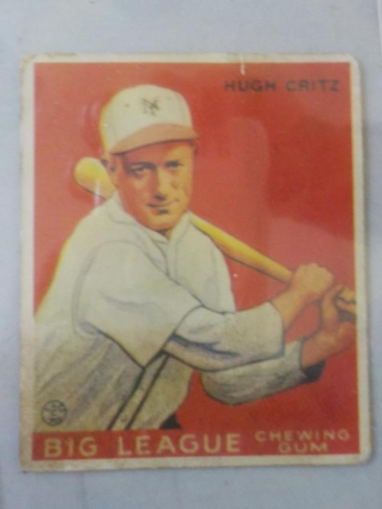 1933 Goudey Hugh Critz Baseball Card