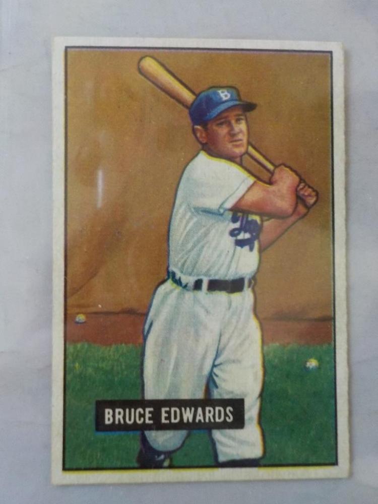 1951 Bowman Bruce Edwards Baseball Cards NM
