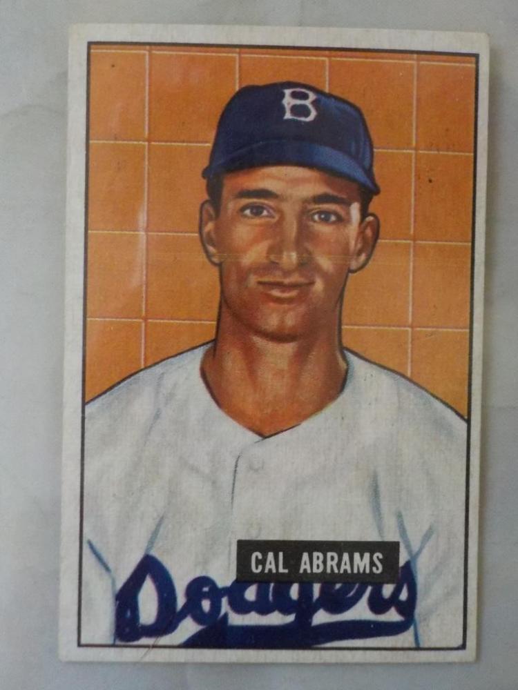 1951 Bowman Cal Abrams Baseball Card NM