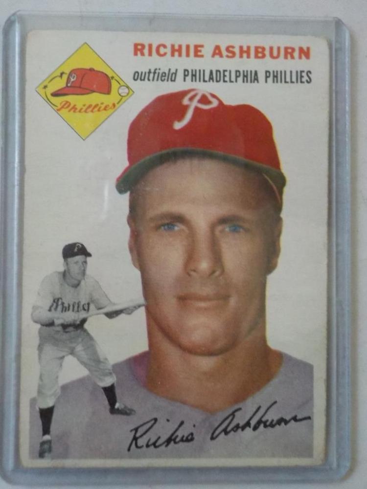 1954 TOPPS Richie Ashburn Baseball Card VGEX-EX