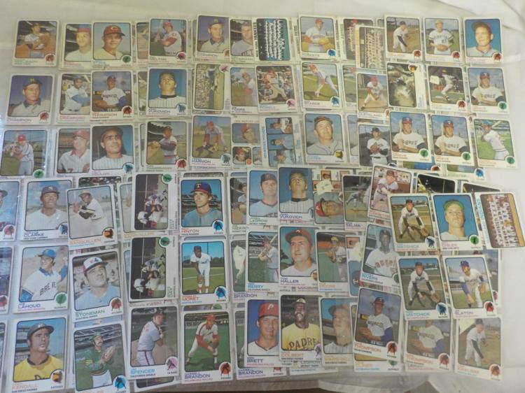 About 180 1973 TOPPS Baseball Cards w/over 50 High