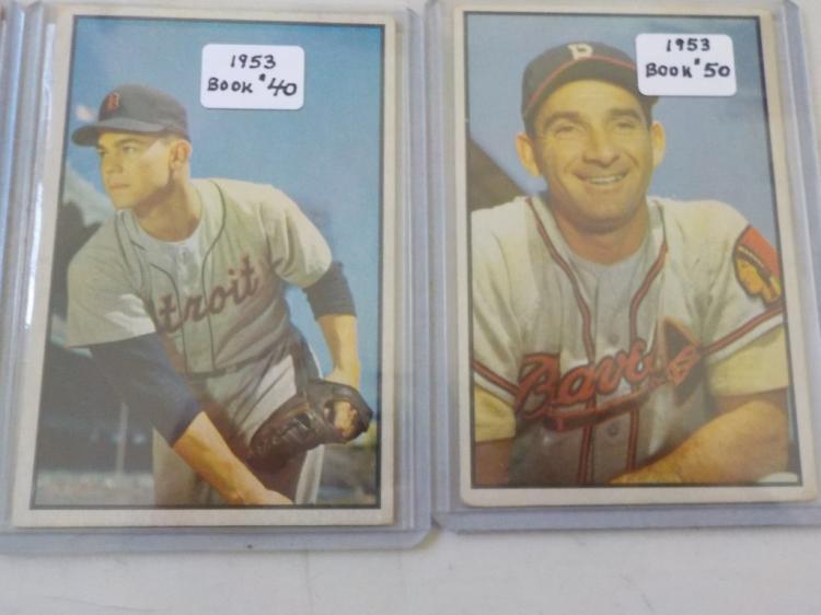 3 1953 Bowman Baseball Card Ex 5 4 22