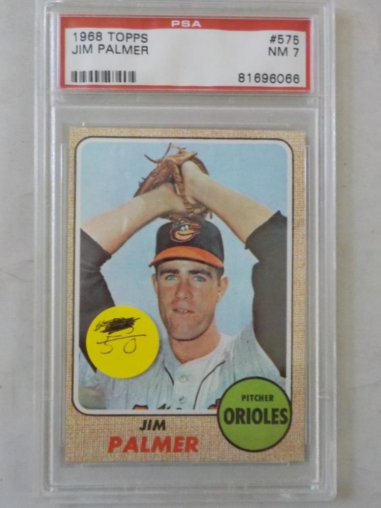 1968 TOPPS Jim Palmer #575 PSA NM7