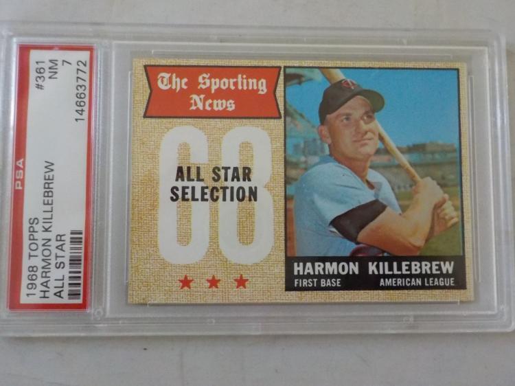 1968 TOPPS Harmon Killebrew #361 PSA7 NM