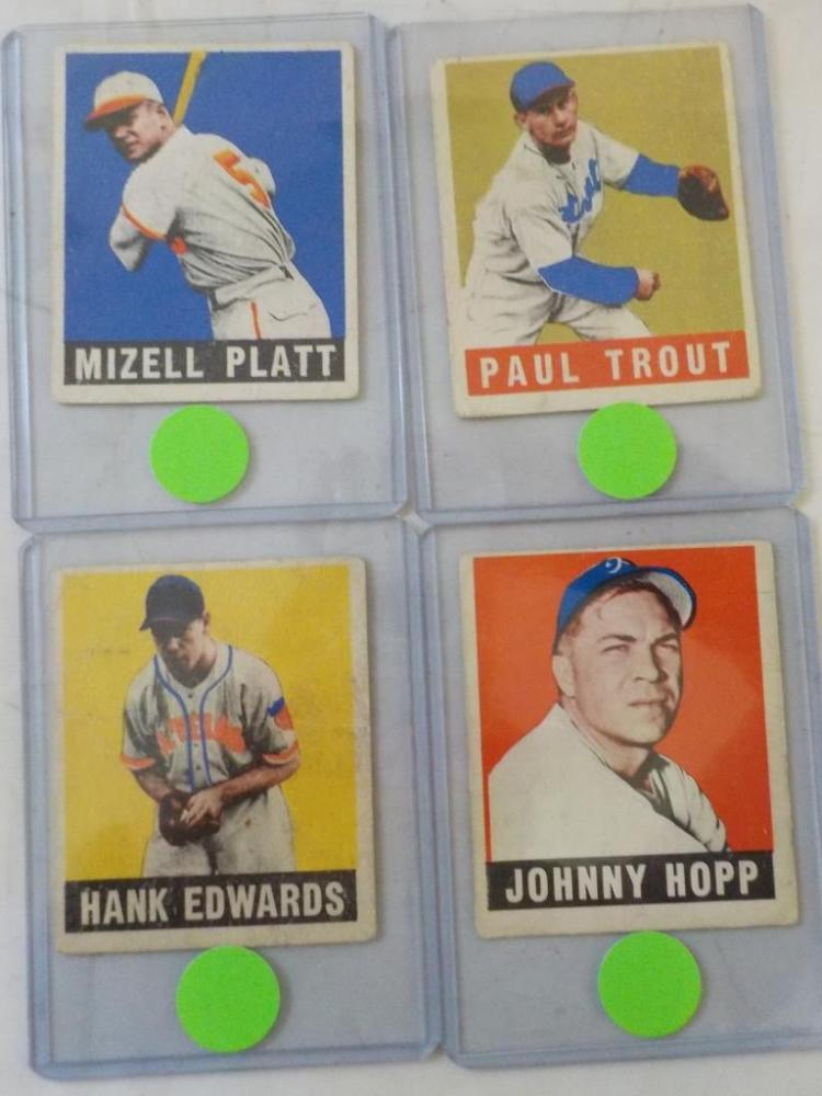 4 1948 Leaf Baseball Cards #10, 139,159,72