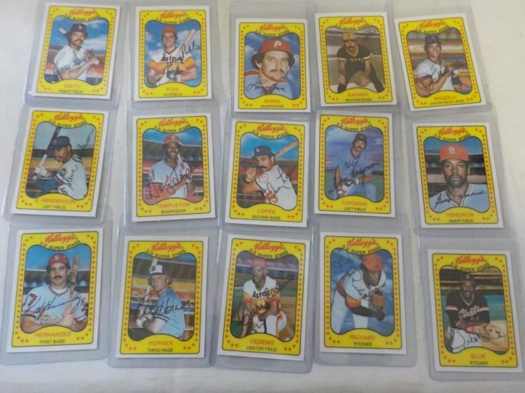 15 1981 Kellogg's Baseball Cards 3-D Superstars