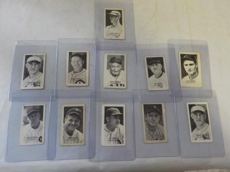 11 c.1930's Strip Cards of Hall of Famers