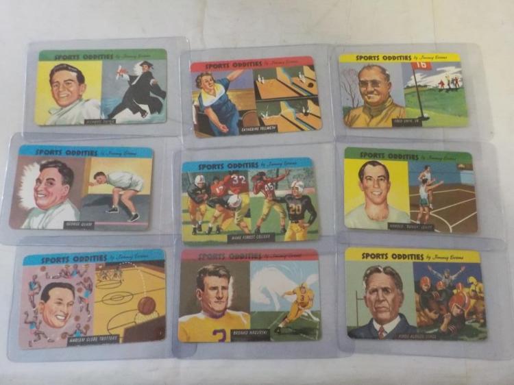 9 1954 Quaker Sports OdditiesCards