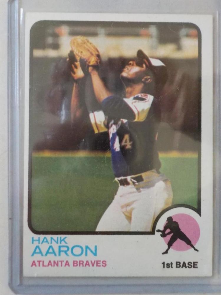 1973 TOPPS Hank Aaron #100 Baseball Card