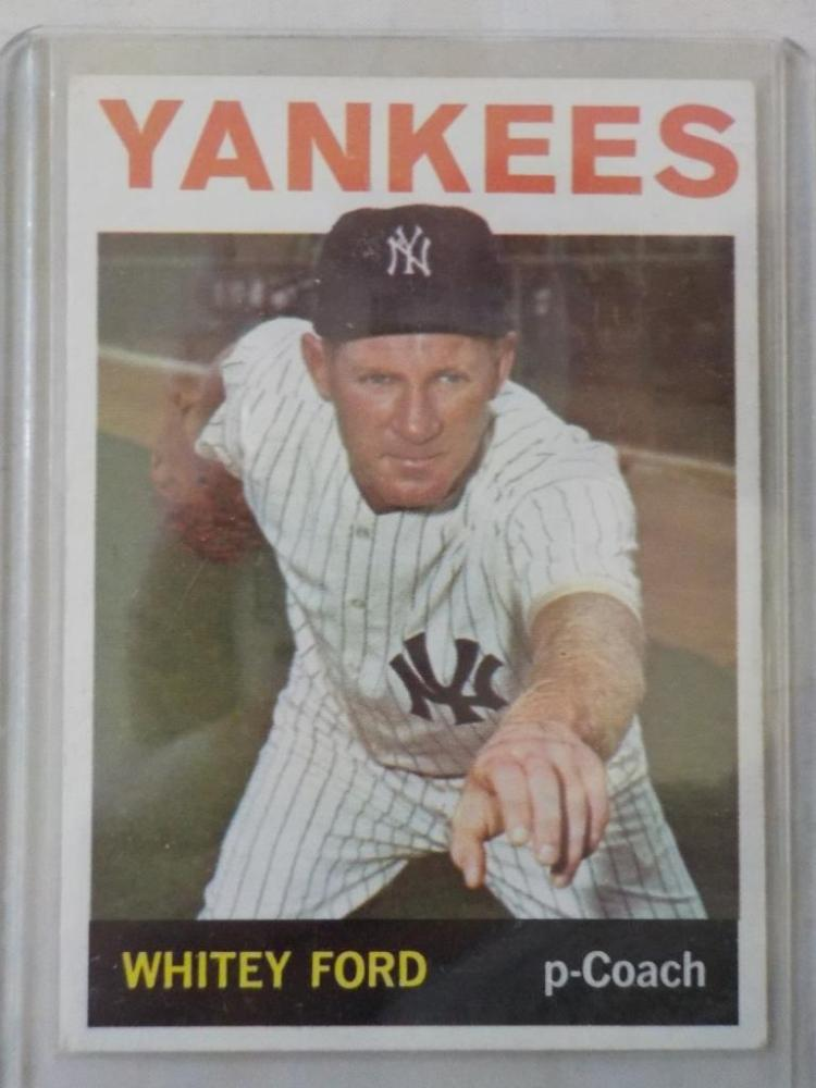 1964 TOPPS Whitey Ford #380 Baseball Card