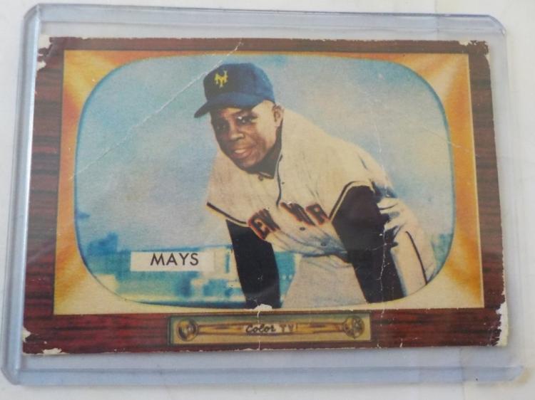 1955 Bowman Will Mays #184 Card -Fair