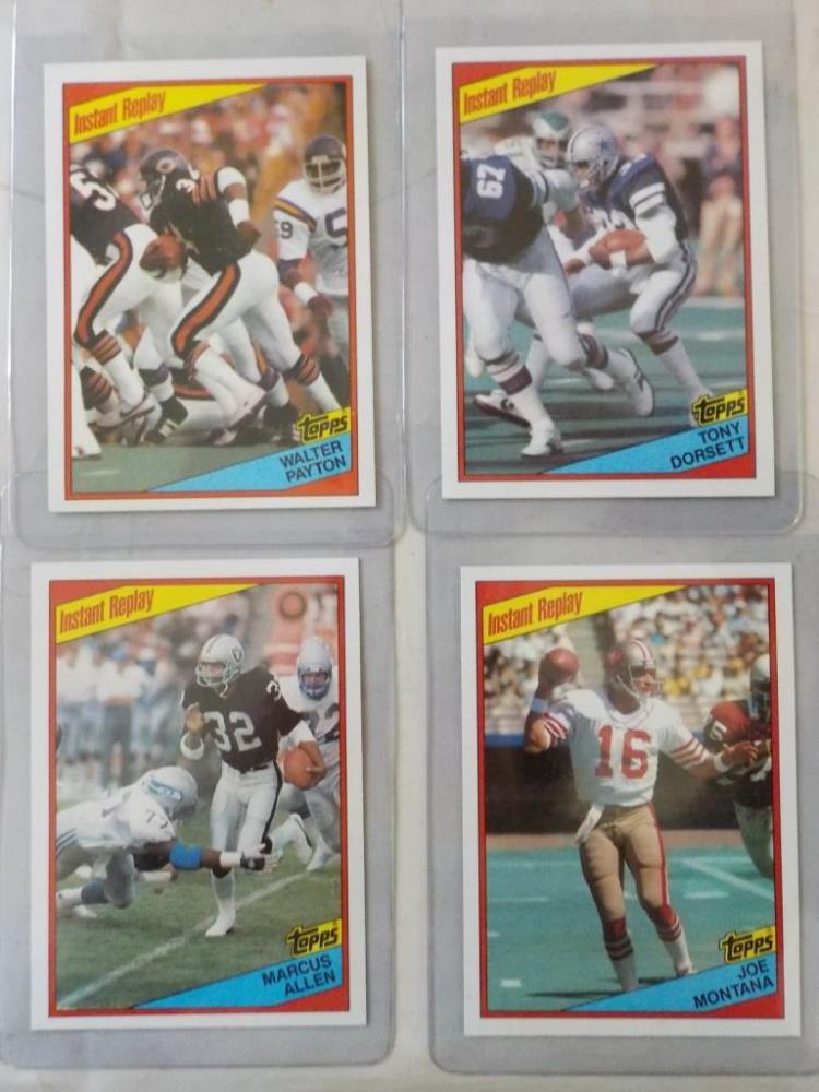 4 1984 TOPPS Football Superstars NM-M+