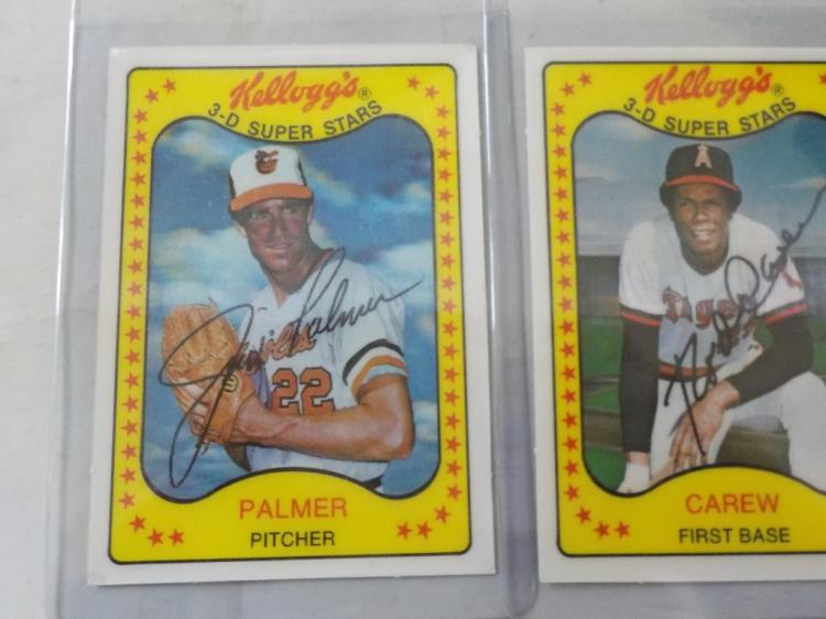 3 1981 Kellogg's Superstars Palmer, Carew, Murray