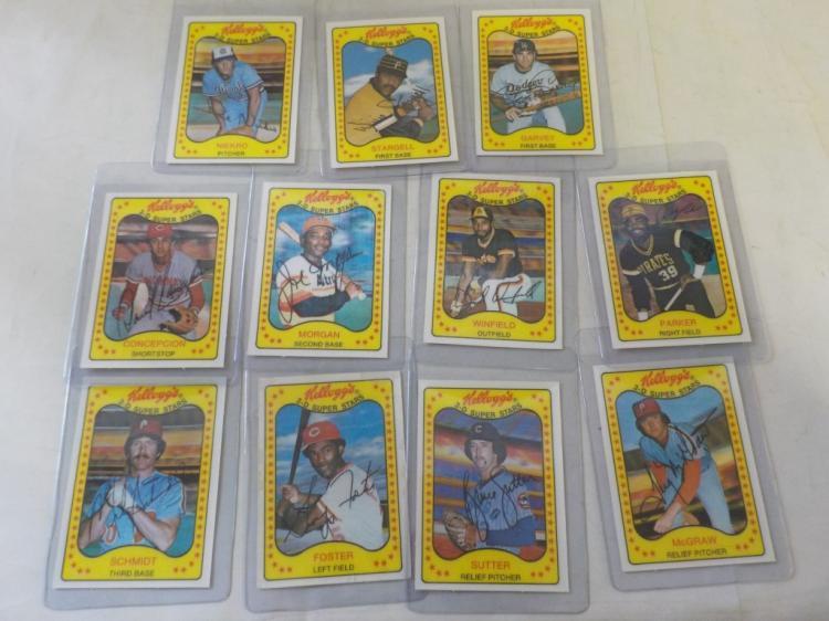 11 1981 Kellogg's 3-D Superstars National Leaguers