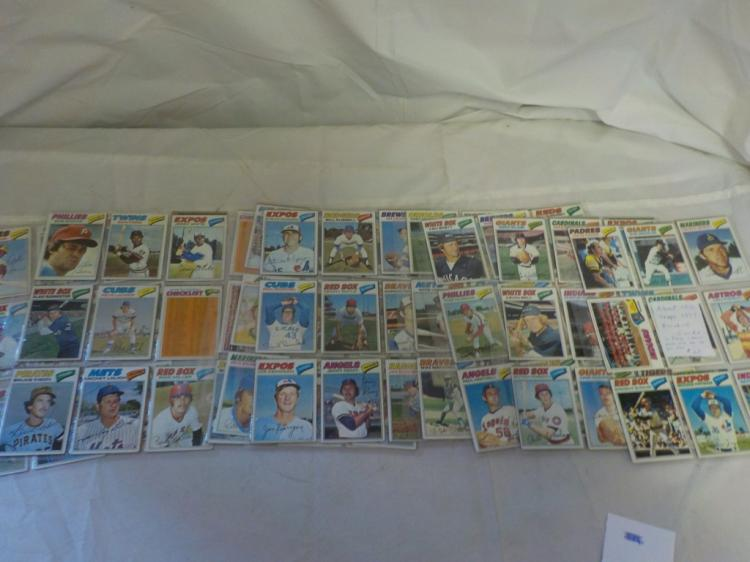 About 150 TOPPS 1977 Baseball Cards a few stars