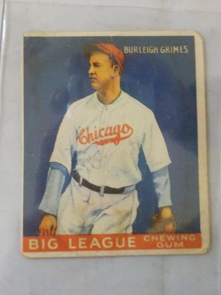 1933 Goudey Burleigh Grimes HoF Card