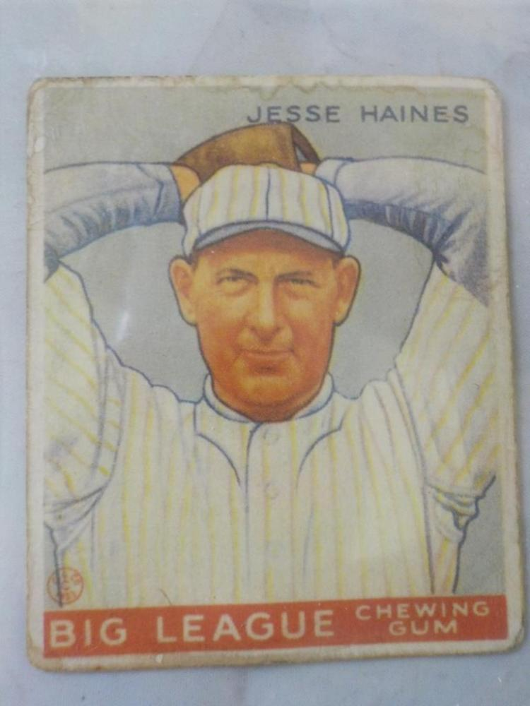 1933 Goudey Jesse Haines HoF Card