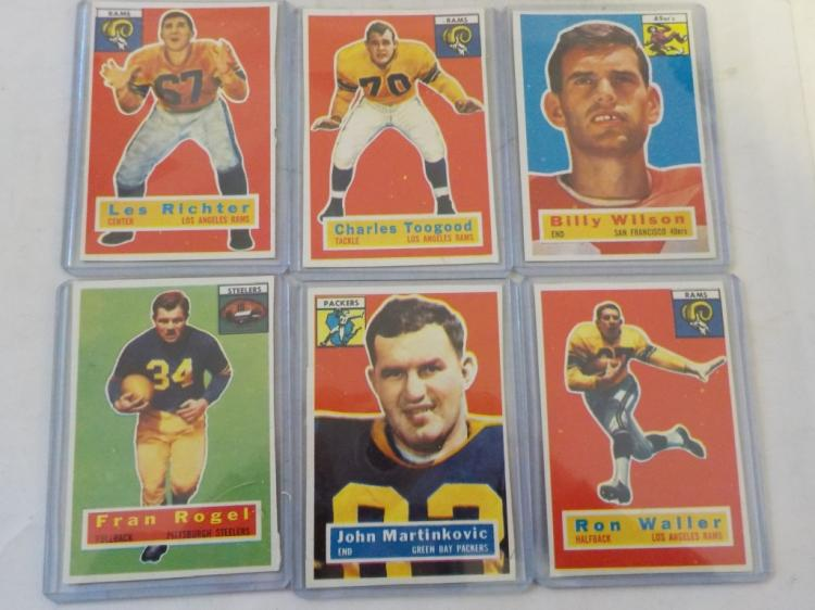 6 1956 TOPPS Football Cards
