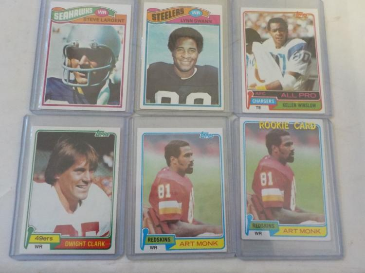 6 Late 1970's & early 1980's Star Football Cards
