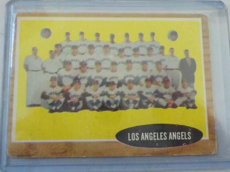 1962 TOPPS L.A. Angels Team Card #132