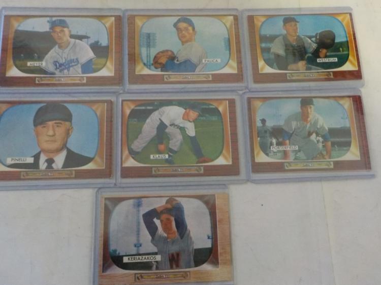 7 1955 Bowman Baseball Cards Ex-EX+
