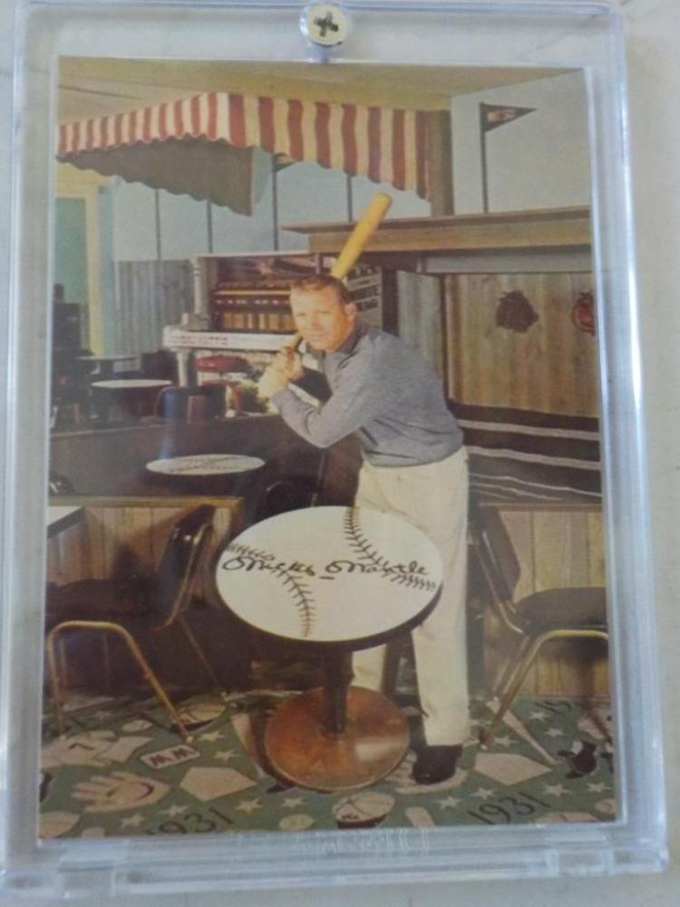 Mickey Mantle Motel Business Card Joplin MO