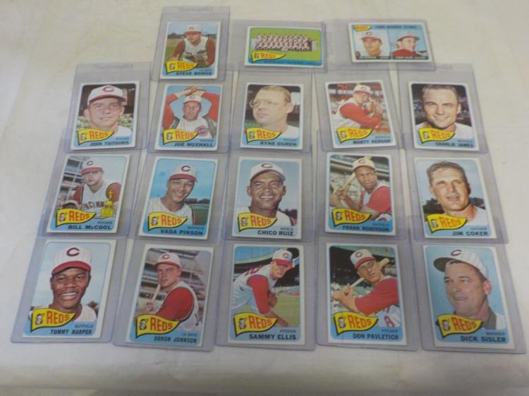 18 1965 TOPPS Cincinnati Reds Baseball Cards