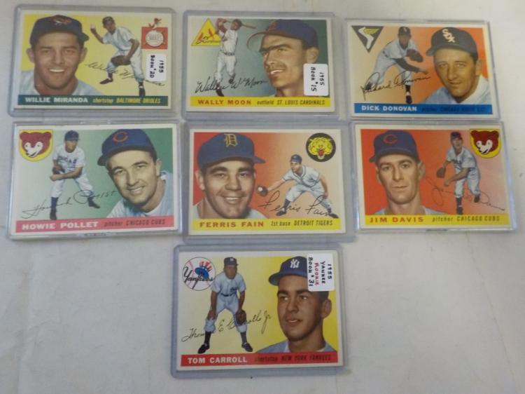 7 1955 TOPPS Baseball Cards EXM-NM