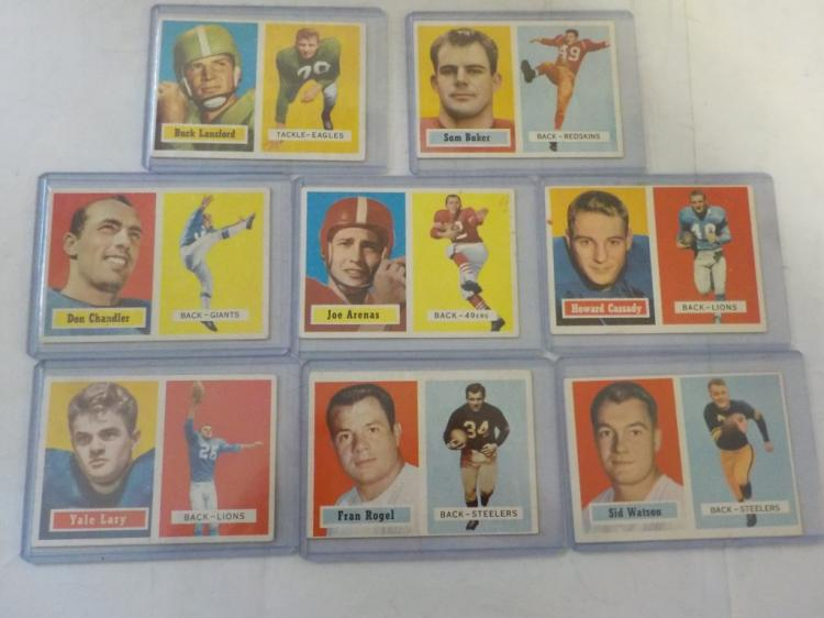 8 1957 TOPPS Football Cards VG-EX to EX+