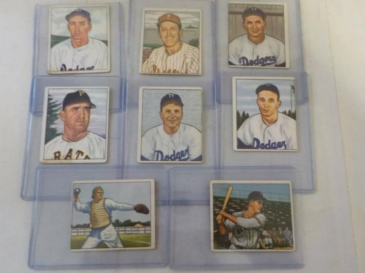 8 1950 Bowman Baseball Cards