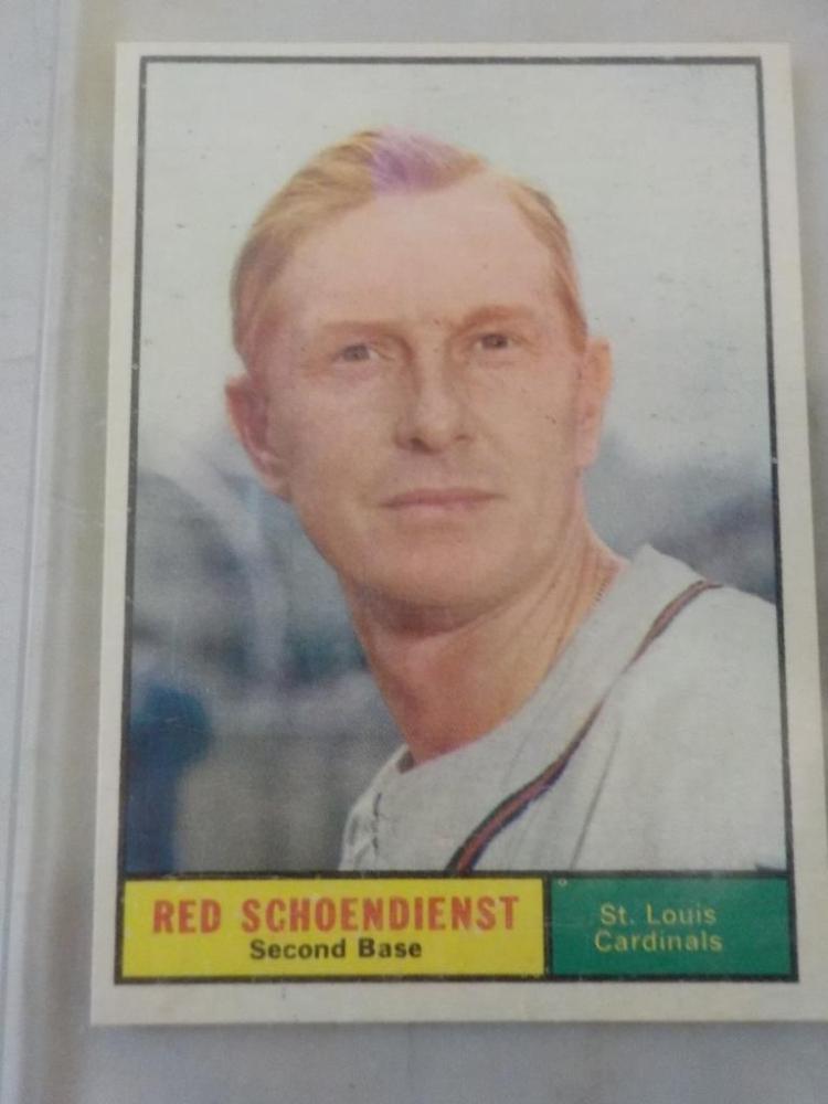 1961 TOPPS Red Schoendienst #505 Baseball Card