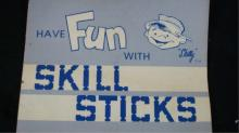 Have Fun With Skill Sticks Game 1974