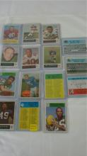 1964-68 (15) Philadelphia Football Cards